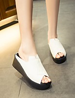 Women's Sandals Summer Platform PU Casual Wedge Heel Others Black / White Others
