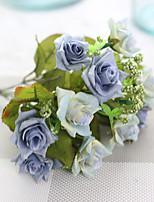 1 1 Филиал Полиэстер Розы Букеты на стол Искусственные Цветы 27cm