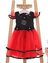 Girl's Casual/Daily Solid DressCotton / Polyester Summer Red