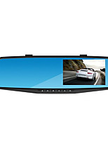 Dual Lens 1080p Blue Mirror HD Wide-Angle Night Vision 4.3 Inch Rear View Mirror Driving Recorder