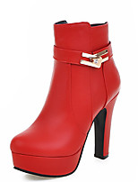 Women's Shoes Chunky Heel Pointed Toe Rhinestone Platform Ankle Bootie More Color Available