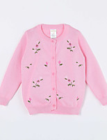 Girl's Casual/Daily Print Sweater & CardiganCotton Fall Pink