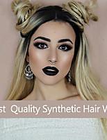 racine des cheveux naturels ondulés ombre noir blond deux dentelle ton perruque synthétique femmes vague perruques de cheveux