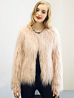 Women's Wrap Shrugs Long Sleeve Faux Fur Black / White / Gray / Candy Pink / Khaki Wedding / Party/Evening / Casual