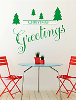 AYA DIY Wall Stickers Wall Decals Christmas Festival Chritmas Greetings Style PVC Stickers 42*67cm