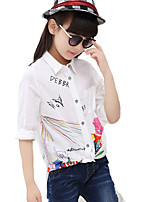 Girl's Casual/Daily Print BlouseCotton Spring / Fall White