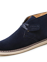 Men's Oxfords Spring / Fall / Winter Combat Boots Fur Athletic / Casual Flat Heel Black / Blue / Yellow Sneaker