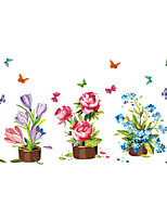 Wall Stickers Wall Decals Style Creative Flower Butterfly PVC Wall Stickers
