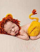 Newborn Prince Vintage Photography Prop Birthday Lion Knitting Hat and Pants(0-6Month)