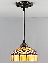 40W Lámparas Colgantes ,  Tiffany / Cosecha Pintura Característica for Mini Estilo Metal Dormitorio / Vestíbulo