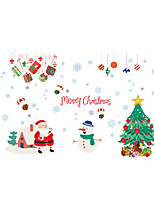 Wall Stickers Wall Decals Style Santa Claus Trees PVC Wall Stickers