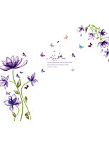 Wall Stickers Wall Decals Style Purple Dream Flower PVC Wall Stickers