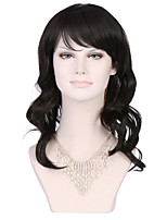 Women Natural Black Curly Cosplay Party Wig Synthetic Fiber Hair Protea Hair
