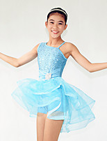 Ballet Dresses Women's / Children's Performance Spandex /Crystals/Rhinestones / Paillettes / Ruffles / Sequins2