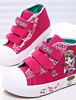 Girl's Sneakers Fall Comfort Canvas Casual Flat Heel Magic Tape Blue Pink Fuchsia Others