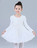 Girl's Casual/Daily Solid DressCotton / Polyester Winter / Fall Pink / White