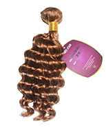 1 Peça Onda Profunda Tramas de cabelo humano Cabelo Indiano 85-100g 10-18Inch Extensões de cabelo humano