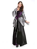 Costumes de Cosplay / Costume de Soirée Vampire Fête / Célébration Déguisement Halloween Noir Couleur Pleine Robe / Plus d'accessoires