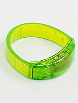 Injury Prevention Bracelet Foot Ring Reflective Strips LEDs Running Unisex Red / White / Green / Rose ABS