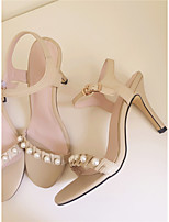 Women's Sandals Spring / Summer Comfort Leather Casual Stiletto Heel Others Almond Others