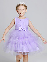 Girl's Formal Solid DressPolyester All Seasons Purple / Red / White