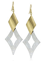 Europe and America Exaggerate Metal Square Gold Leaf Drop Dangle Earrings Women Party Cheap Earrings Bridesmaid Gift
