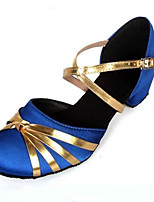 Women's Heels Spring / Fall Closed Toe Leather Outdoor / Casual Stiletto Heel Lace-up Black / Blue / Red Others