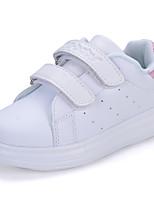 Розовый / Белый / Черный и белый-Для девочек-На каждый день-Полиуретан-На плоской подошве-С круглым носком
