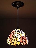 25W Luci Pendenti ,  Tradizionale/Classico / Rustico/campestre / Stile Tiffany Pittura caratteristica for Stile Mini MetalloSalotto /