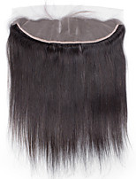 Bolin Hair Top Grade 7A Cheap Black Hand Tied Straight Lace Frontal Medium Brown Swiss Lace Frontal