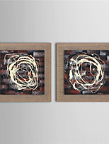 2 Panels Modern Wall Art Pictures Abstract Oil Painting Hand-Painted On Linen Home Decoration Painting With Frame