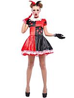 Costumes More Costumes Halloween / Oktoberfest Red / Black Patchwork Terylene Dress / More Accessories