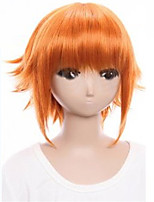 The New COS Wig Orange Personality Turned Up Short 12 Inch