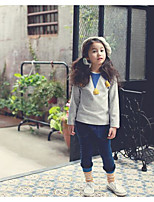 Girl's Casual/Daily Solid TeePolyester Spring / Fall Gray