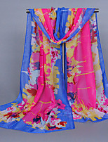 Women's Chiffon Scrawl Print Scarf Royal Blue/Blue/Yellow/Watermelon