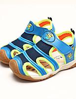 Синий / Оранжевый-Для мальчиков-На каждый день-Полиуретан-На плоской подошве-Удобная обувь / С круглым носком-Сандалии