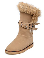 Women's Boots Fall / Winter Snow Boots / Round Toe  / Casual Platform Rivet Black / Gray / Almond Snow Boots
