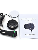 Bluetooth Hands-Free Car NFC AUX Kit Music Aux Speakerphone with 3.1A Dual USB Car Charger for iphone Smartphone MP3/4