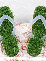 Зеленый-Мужской-На каждый день-ПВХ-На плоской подошве-Удобная обувь-Тапочки и Шлепанцы