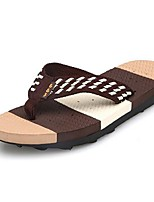 Men's Slippers & Flip-Flops Summer Flip Flops Leatherette Outdoor Flat Heel Others Black / Blue / Brown Others