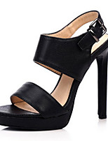 Women's Sandals Summer Heels / Platform / Sandals / Open Toe PU Party & Evening / Dress / Casual Stiletto Heel Buckle
