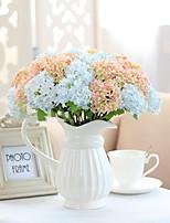 1 1 Филиал Полиэстер Гортензии Букеты на стол Искусственные Цветы 33cm