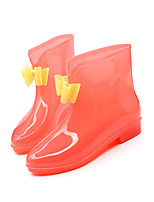 Girl's Boots Fall / Winter Rain Boots / Round Toe PVC Outdoor Flat Heel Others Green / Purple / Red Others