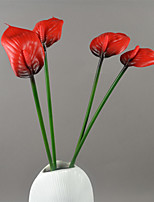 Hi-Q 1Pc Decorative Flower Double Anthurium Wedding Home Table Decoration Artificial Flowers