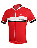 SANTIC® Cycling Jersey Men's Short Sleeve Bike Breathable / Ultraviolet Resistant / Comfortable Tops Polyester British / PatchworkSpring