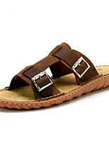 Men's Sandals Summer Leather Casual Flat Heel Others Brown Others