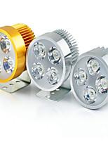 Detalle 4 granos del LED de los faros del vehículo eléctrico 12w faro brillante estupendo 10V-85V súper brillante luz blanca