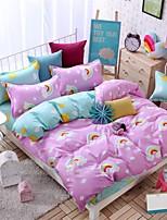 bedtoppings утешитель одеяло пододеяльник 4шт комплект размер ферзя плоский лист наволочка радуги печатает микроволокна