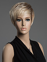 Pretty Men's Hairstyle Short Straight Monofilament Top Wig 100% Human Remy Hair