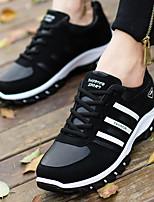גברים-נעלי ספורט-PU-נוחות-שחור / כחול / כתום-קז'ואל-עקב שטוח